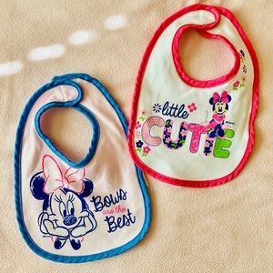 Set of Two Disney Babies Bibs For Infant Girls